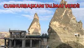 Kapadokya'daki 15 kaçak yapı için yıkımlar başladı!