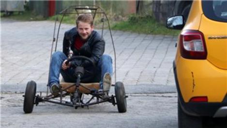 Rizeli genç inşaat demirinden 3 tekerlekli ATV üretti