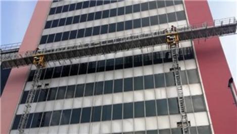 Bursa'da Tower Plaza'da yıkım süreci başladı