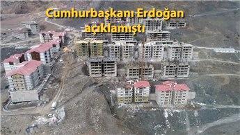 Yusufeli'ndeki denize nazır evlerin inşaatı devam ediyor