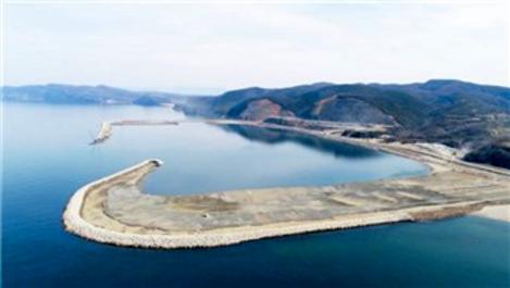 Filyos Limanı ana mendirek yapım çalışması sürüyor