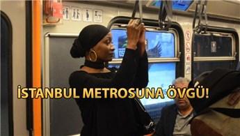 Della Miles İstanbul'da konaklayacağı otele raylı sistemle ulaştı