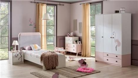 Alfemo'dan kız çocukları için Flamingo Çocuk Odası!
