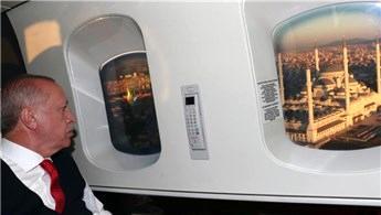 Cumhurbaşkanı Erdoğan  Çamlıca Camisi'ni havadan inceledi