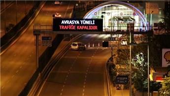 Avrasya Tüneli ve bazı yollar trafiğe kapatıldı