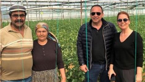Ender Alkoçlar seracılık yaparak organik sebze üretiyor