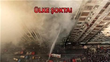 Bangladeş'in başkenti Dakka'da gökdelende yangın!