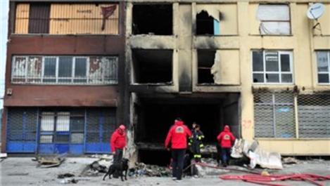 Ankara'da eski Atasanayi Sitesi'nde yangın!