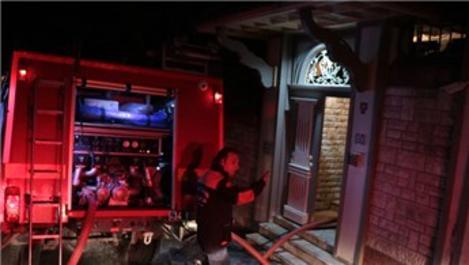 Üsküdar'da boğaz manzaralı villada yangın!