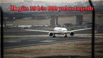 İstanbul Havalimanı'ndan ilk gün 148 sefer yapıldı