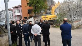 Bursa İnegöl'de yıkımlar sürüyor