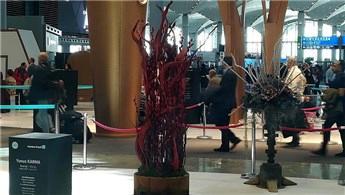 İstanbul Havalimanı'nın inşaat atıkları sanat eserine dönüştü