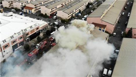 Başakşehir Sanayi Sitesi'nde yangın çıktı