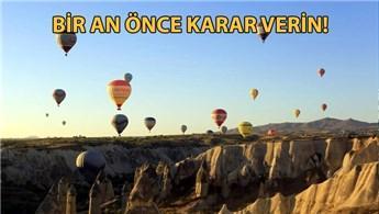 Kapadokya'da bayram doluluğu yüzde 100'e yaklaştı