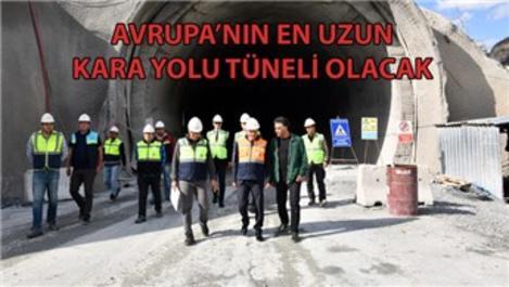 Yeni Zigana Tüneli'nde yüzde 60 seviyesine yaklaşıldı