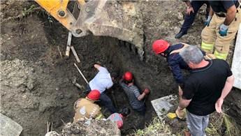 Beylikdüzü'nde inşaat alanında toprak kayması