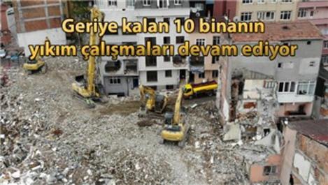 Kağıthane'de yıkım çalışmaları havadan görüntülendi