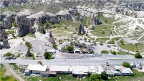 Kapadokya'da 67 kaçak yapı yıkıldı
