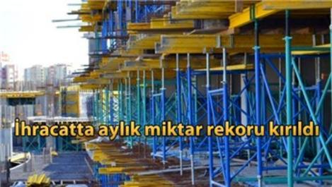 Tarihin en yüksek aylık inşaat malzemesi ihracatı yapıldı