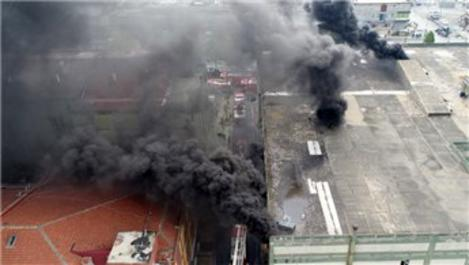 Aymakoop Sanayi Sitesi'nde yangın çıktı