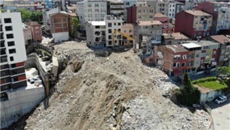 Kağıthane'de yıkımdaki son durum görüntülendi