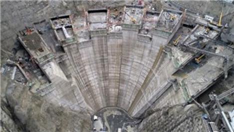 Yusufeli Barajı ve HES projesi inşaatı hızla ilerliyor