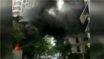 Kadıköy'da inşaat alanında yangın çıktı
