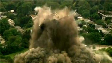ABD çelik endüstrisinin gücünün simgesi 16 saniyede yıkıldı