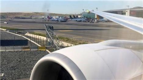 İstanbul Havalimanı'nda talihsiz kaza!