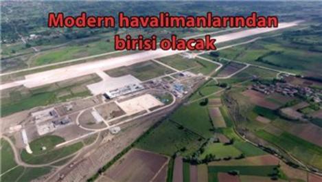 Yeni Tokat Havalimanı pistinde beton çalışması başladı