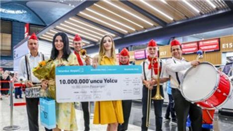 İstanbul Havalimanı 10 milyon yolcu ağırladı!