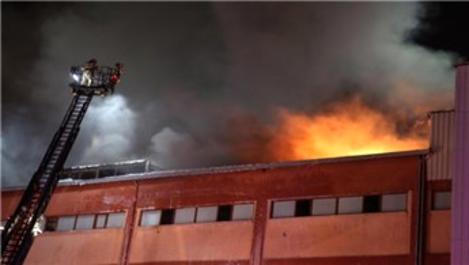 Büyükçekmece'de fabrika yangın!