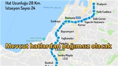 İzmir'e yeni bir metro hattı daha geliyor