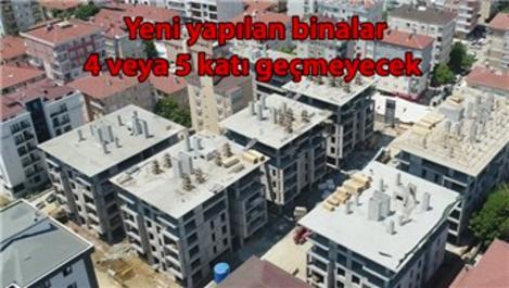 Yeşilyurt apartmanının yerine yapılan binalar yükseliyor