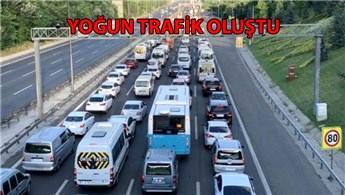 Fatih Sultan Mehmet Köprüsü'nde 4 şerit kapatıldı
