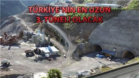Eğribel Tüneli'nde kazı çalışmaları sona erdi!