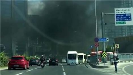 Zincirlikuyu'da rezidans inşaatında yangın!