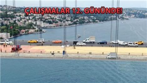 Fatih Sultan Mehmet Köprüsü'nde asfaltlama başladı!