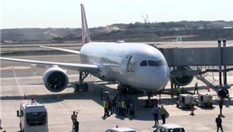 THY'nin 'Rüya' uçağı Eren Bülbül için Trabzon'a uçtu