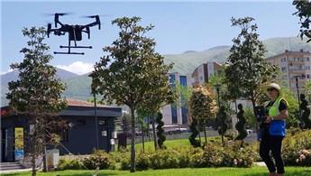 Bursa'da kaçak yapılaşma drone ile takip ediliyor!
