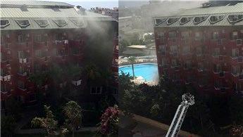 Alanya'da korkutan otel yangını!