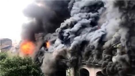Çin'de 100 yıllık otelde büyük yangın!