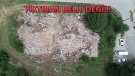Kocaeli'de tarihi bina iş makinesiyle yıkıldı!