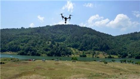 Bursa'da barajlar drone ile kontrol altında