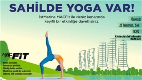 İstMarina AVM'de yoga buluşması