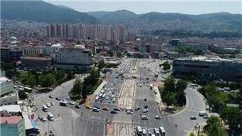 Bursa Büyükşehir Belediyesi Kent Meydanı'na akıllı kavşak