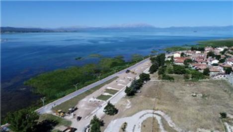Beyşehir Gölü kıyı şeridinde düzenleme çalışmaları başladı