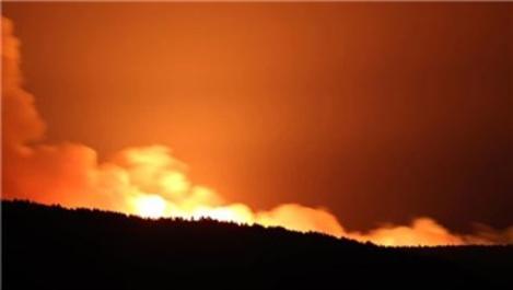 Çanakkale'nin Eceabat ilçesinde yangın çıktı