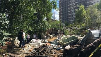 Kağıthane'de bir inşaat firmasından pes dedirten yıkım