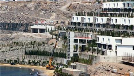 Bodrum'daki asansörün yıkımı 3 gündür devam ediyor